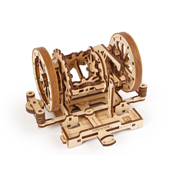 Puzzle 3D STEM Diferentialul din lemn Ugears 4