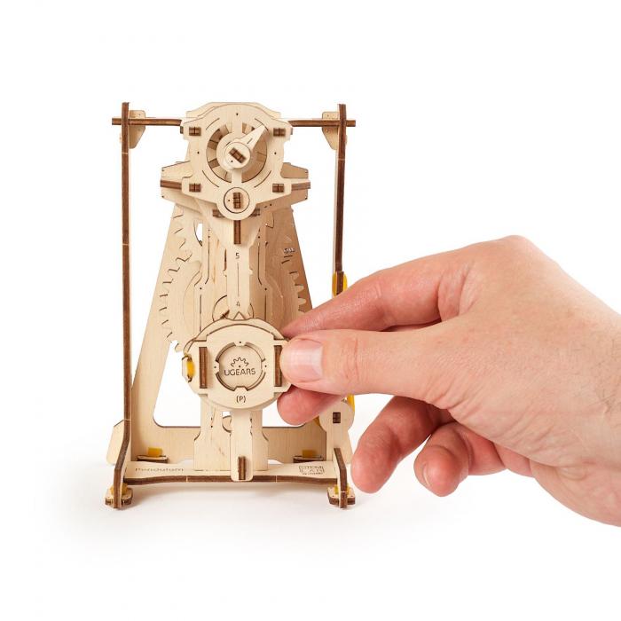 Puzzle 3D STEM Pendul din lemn Ugears 4