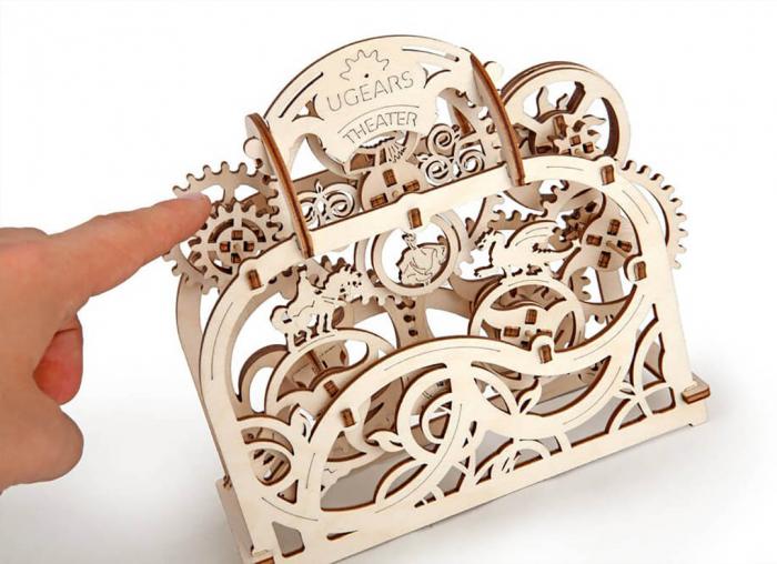 Puzzle 3D Teatru Mecanic din Lemn Ugears 9