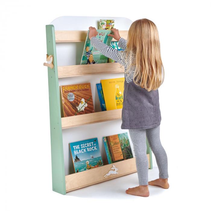 Raft pentru carti copii, din lemn premium 0