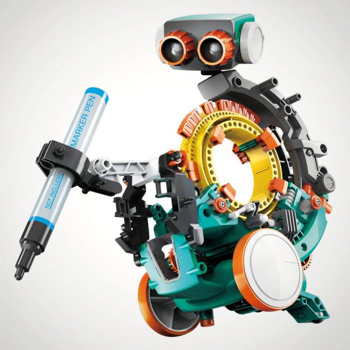 Robot jucarie mecanic si programabil 5 in 1 0