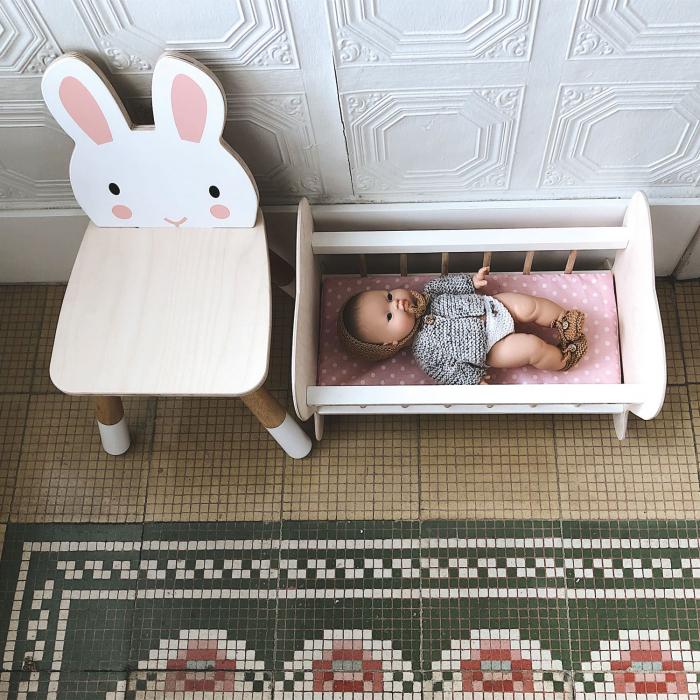 Scaunel din lemn pentru copii, Iepuras 0