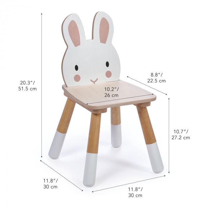 Scaunel din lemn pentru copii, Iepuras 3