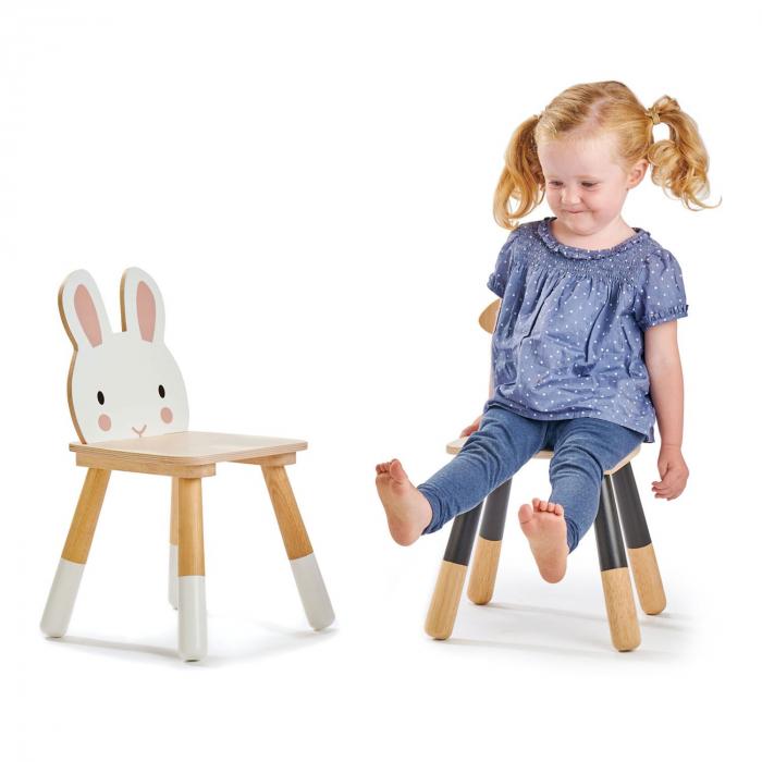 Scaunel din lemn pentru copii, Iepuras 1