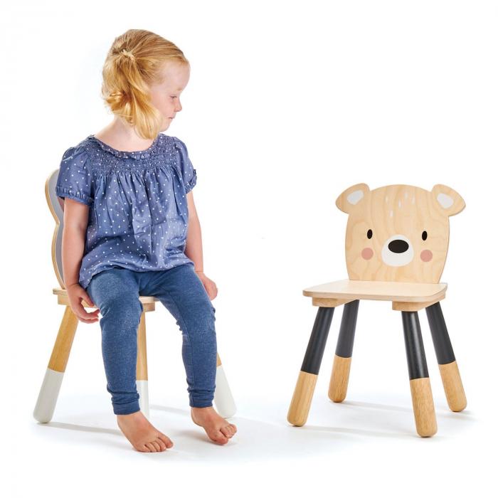 Scaunel din lemn pentru copii, Ursulet 1