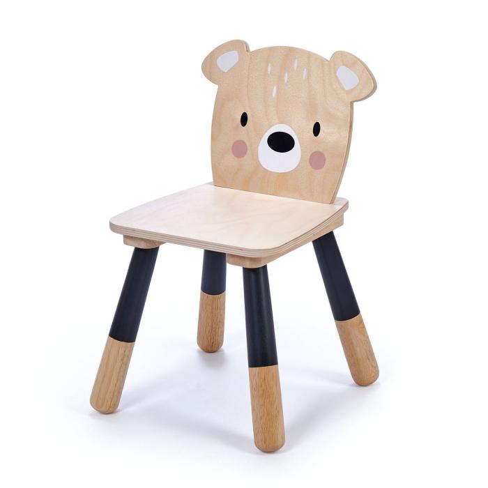 Scaunel din lemn pentru copii, Ursulet 0