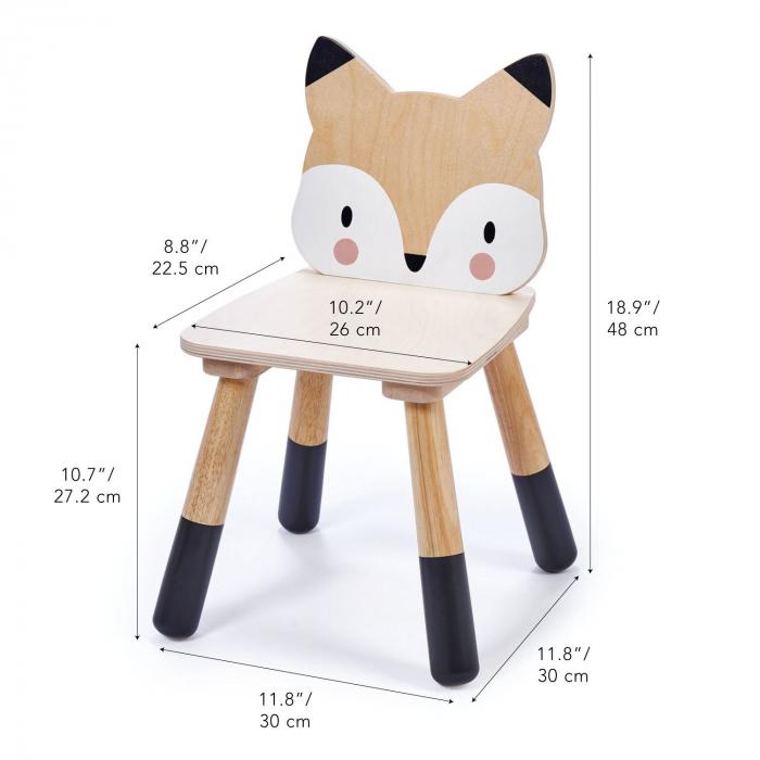 Scaunel din lemn pentru copii, Vulpita 3