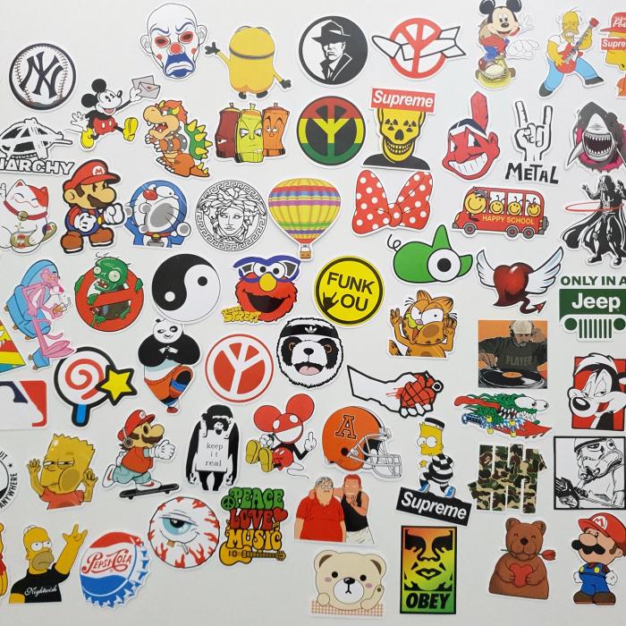Set 100 stickere amuzante Rebele 0