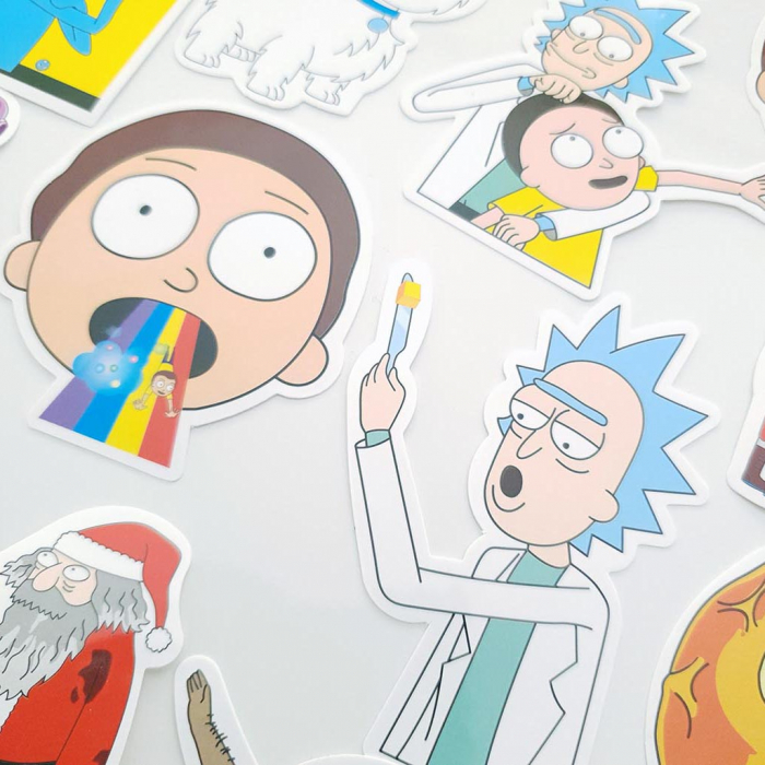 Set 50 stickere laptop Rick and Morty 0