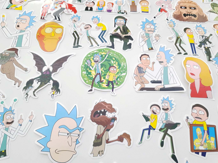 Set 50 stickere laptop Rick and Morty 3
