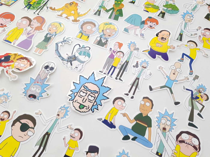 Set 50 stickere laptop Rick and Morty 4