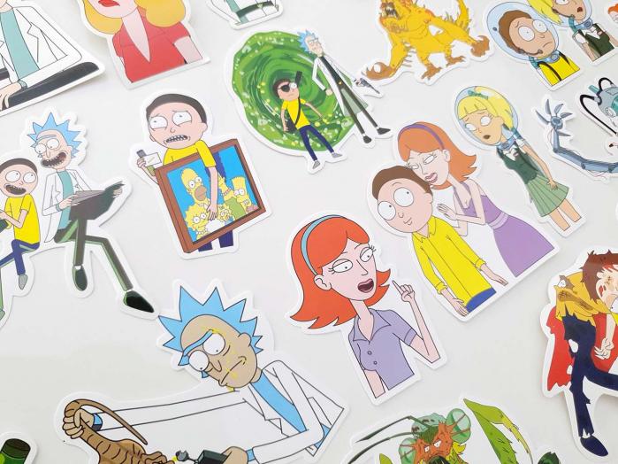 Set 50 stickere laptop Rick and Morty 5