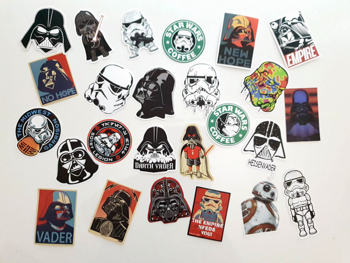 Set 25 stickere laptop Star Wars 0