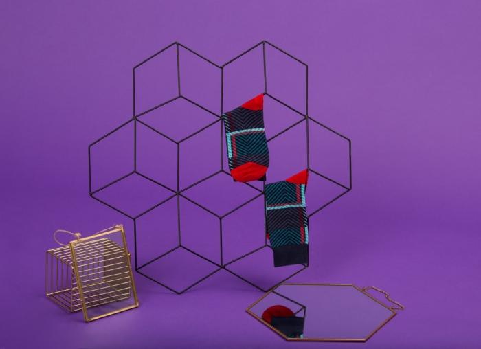 Set 5 perechi sosete colorate cu modele vesele 6
