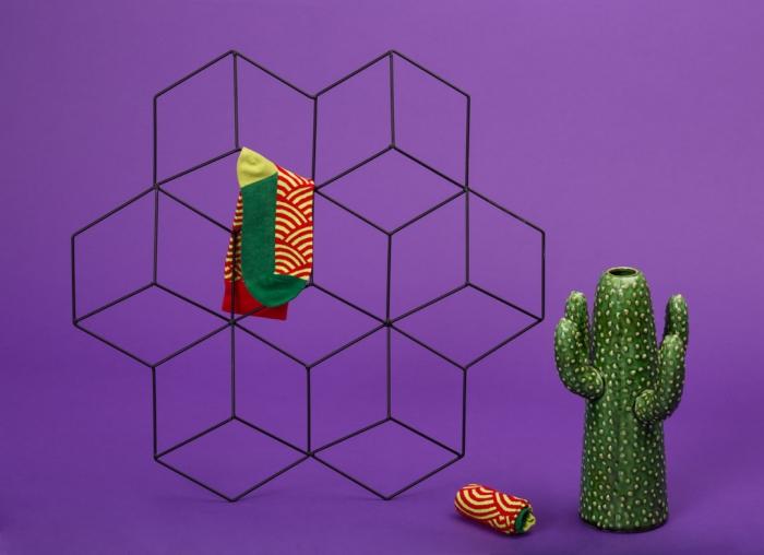 Set 5 perechi sosete colorate cu modele vesele 4