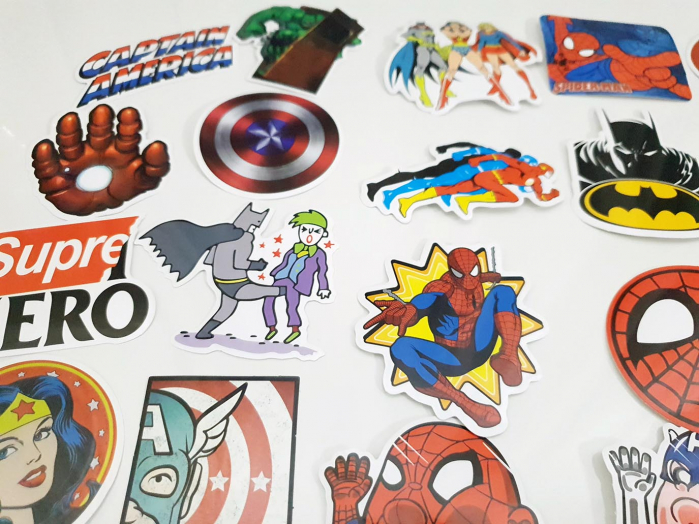 Set 50 stickere bagaje Superhero 1