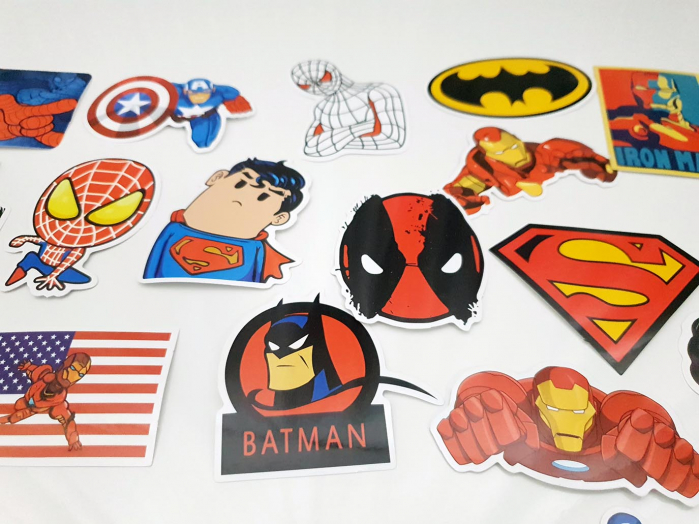 Set 50 stickere bagaje Superhero 2