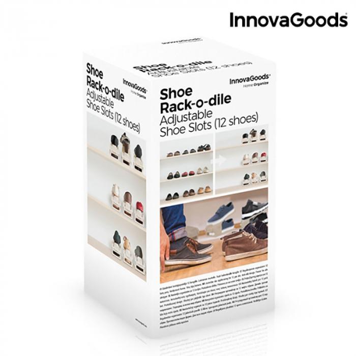 Set 6 bucati organizator pantofi reglabil 7
