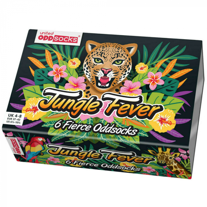 Set 6 sosete colorate Salbatice Jungle fever 5