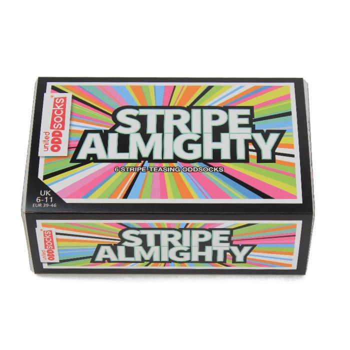 Set 6 sosete colorate cu dungi Stripe-Teasing 2