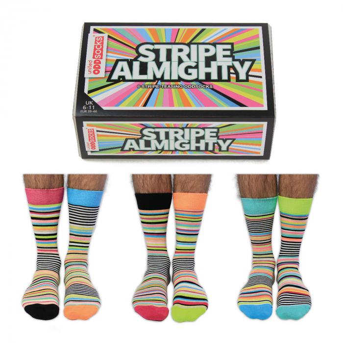 Set 6 sosete colorate cu dungi Stripe-Teasing 0