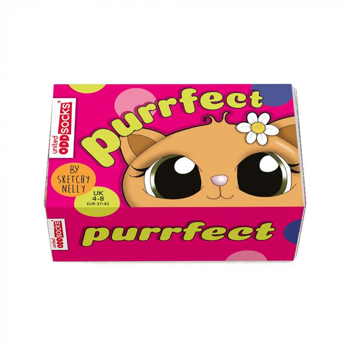 Set 6 sosete colorate Feline Purrfect 2
