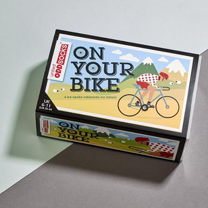 Set 6 sosete colorate pentru biciclisti 3