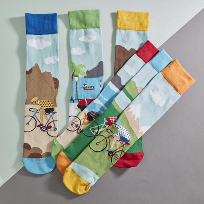 Set 6 sosete colorate pentru biciclisti 0