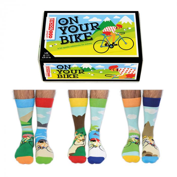 Set 6 sosete colorate pentru biciclisti 4