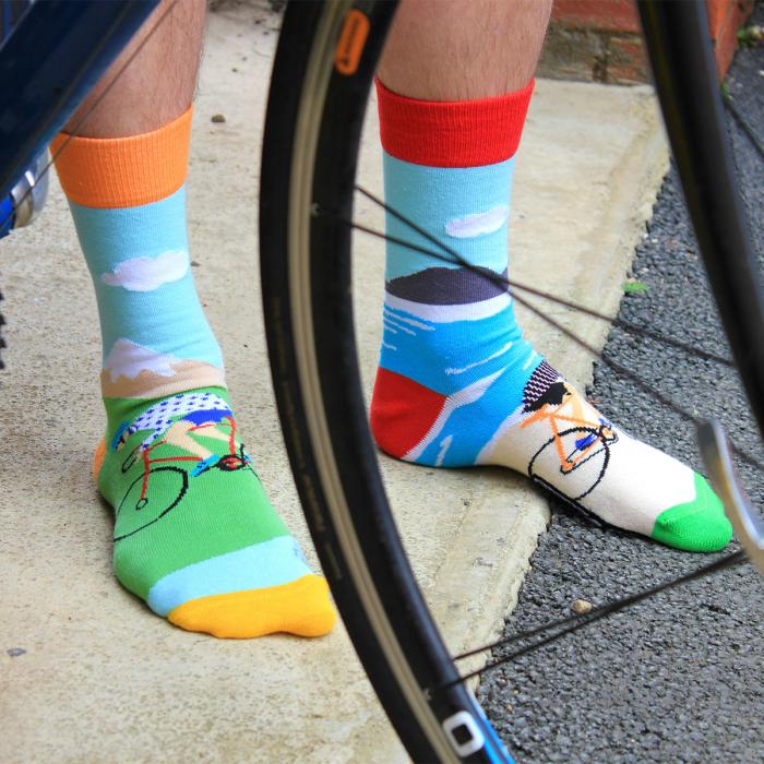 Set 6 sosete colorate pentru biciclisti 2