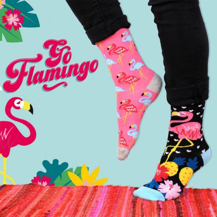 Set 6 Sosete Flamingo 0