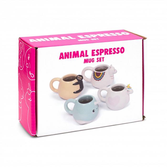 Set cadou 4 cani Espresso Animale amuzante 11