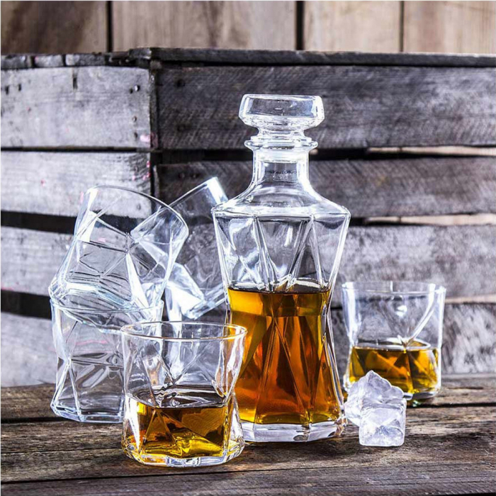 Set cadou decantor Sticla cu sase pahare Cassiopea [1]
