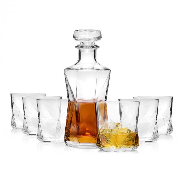 Set cadou decantor Sticla cu sase pahare Cassiopea [3]