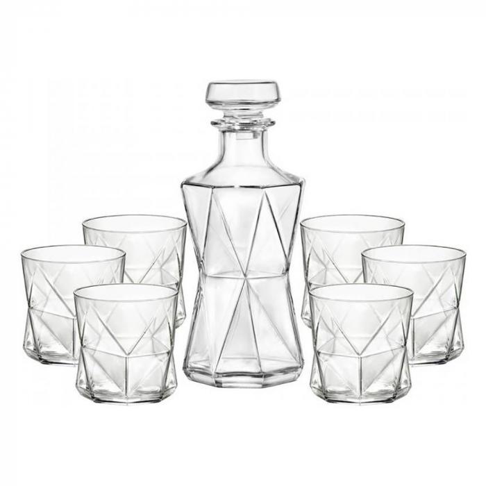 Set cadou decantor Sticla cu sase pahare Cassiopea [6]