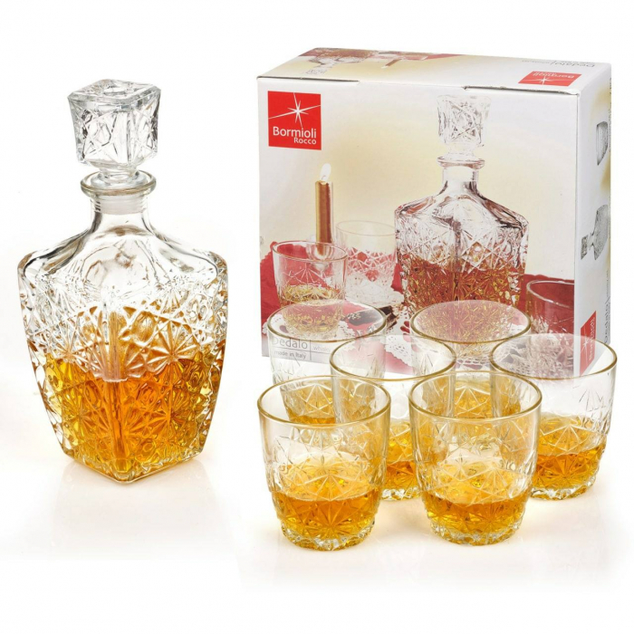 Set cadou decantor Sticla cu sase pahare Dedalo [7]