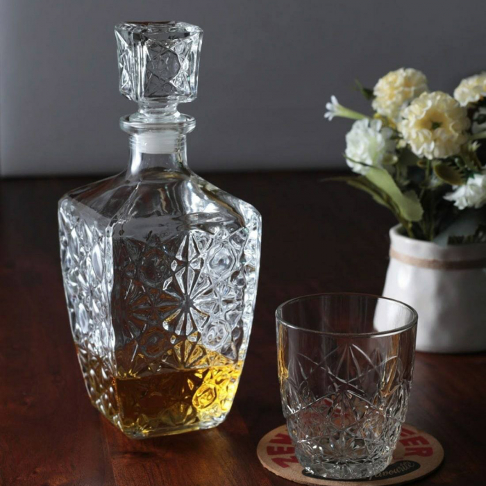 Set cadou decantor Sticla cu sase pahare Dedalo [1]