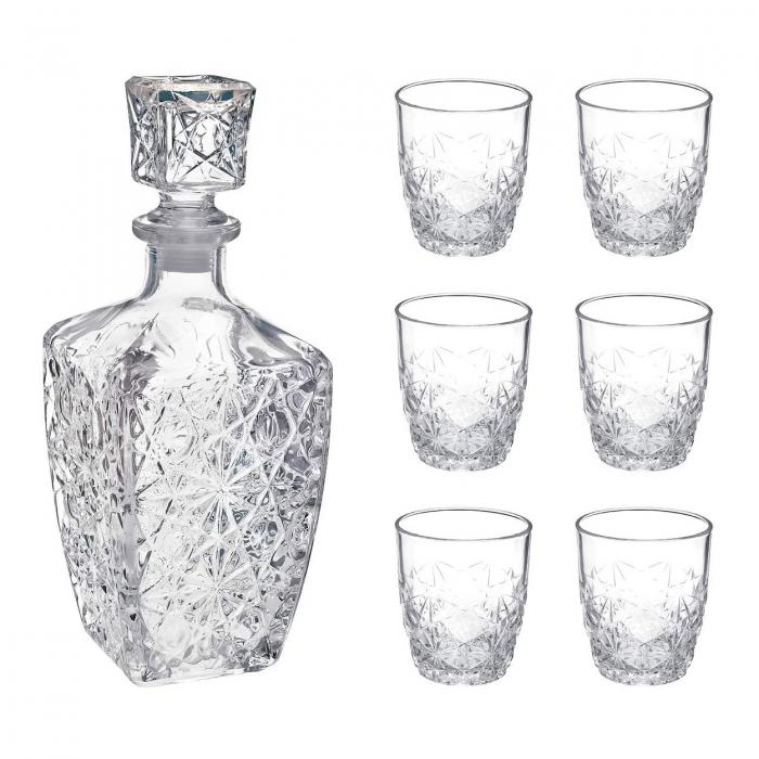 Set cadou decantor Sticla cu sase pahare Dedalo [6]