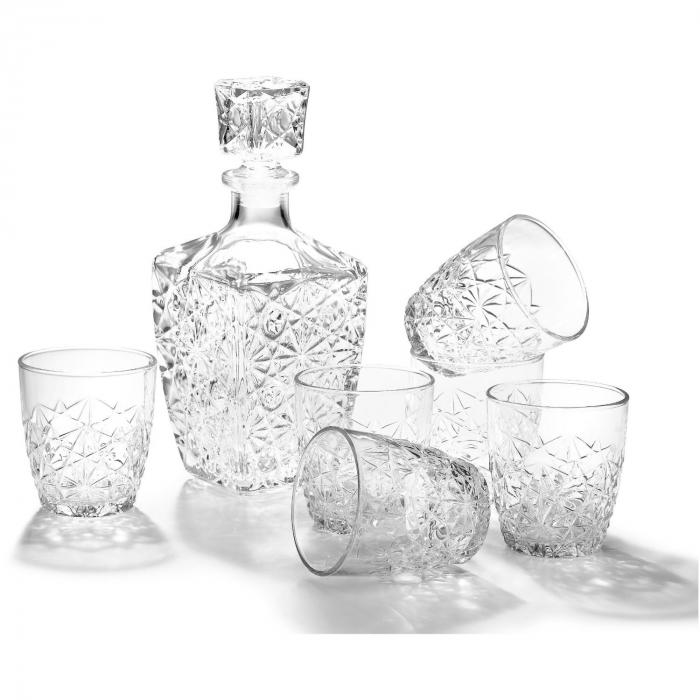 Set cadou decantor Sticla cu sase pahare Dedalo [5]