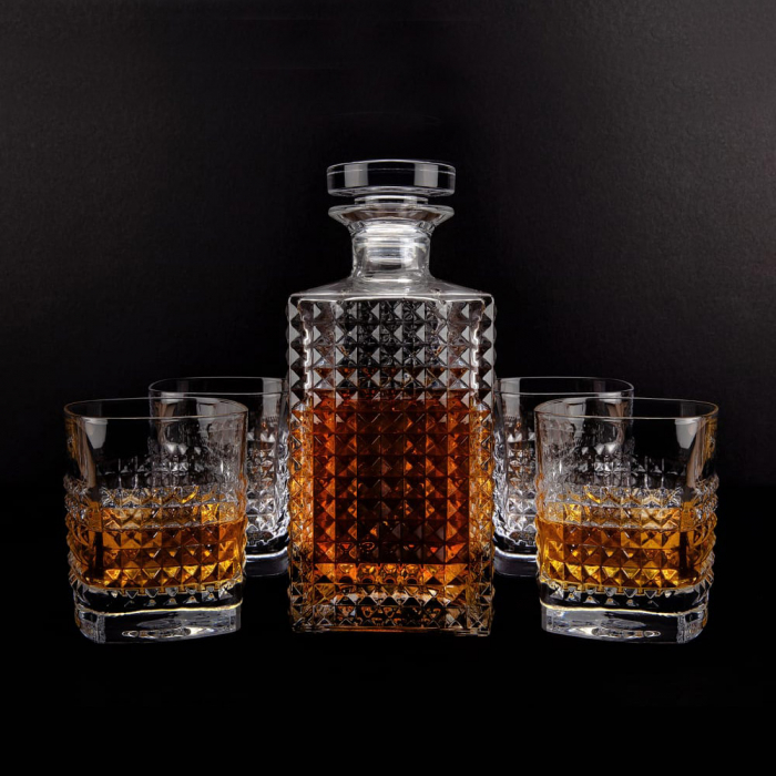 Set cadou decantor Whiskey Sticla cu 4 pahare Elixir [0]
