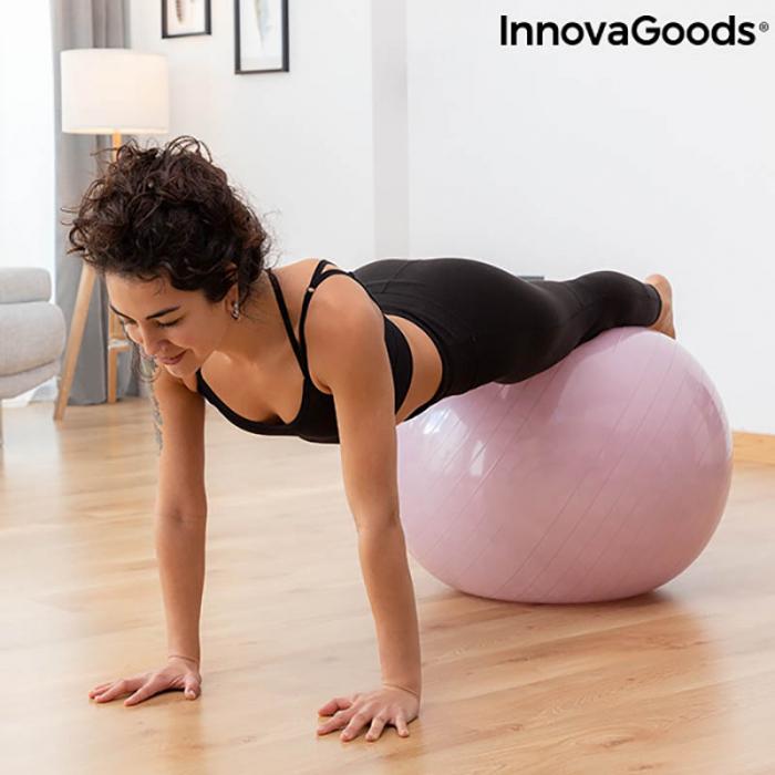 Set cadou femei Yoga Fit, minge fitness, inel si benzi rezistenta 5