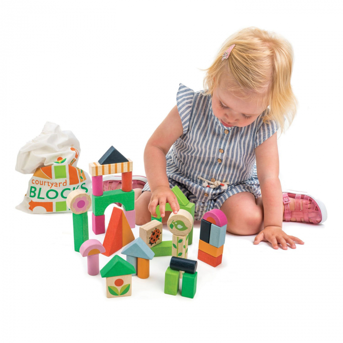 Set cadou jucarii copii cuburi ilustrate din lemn, 35 piese 0