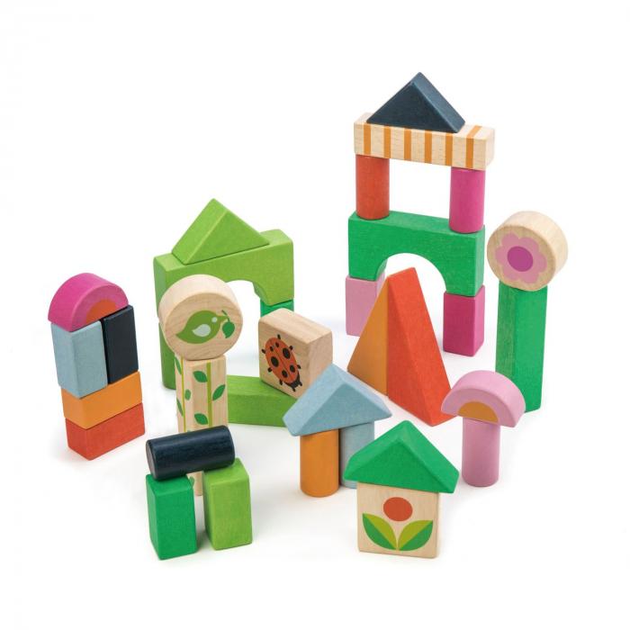 Set cadou jucarii copii cuburi ilustrate din lemn, 35 piese 1