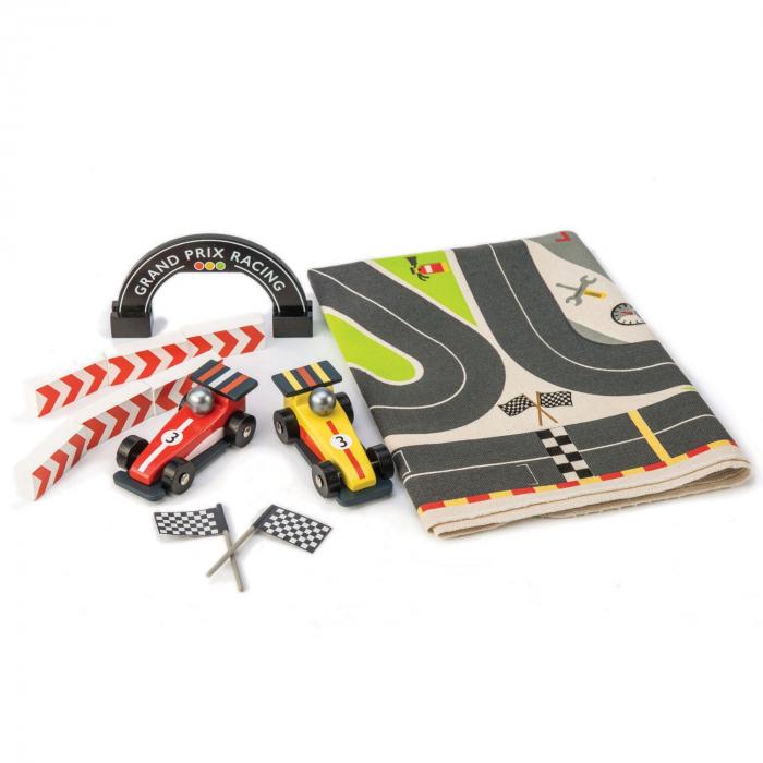 Set cadou jucarii din lemn Circuit Formula 1, 6 piese 2