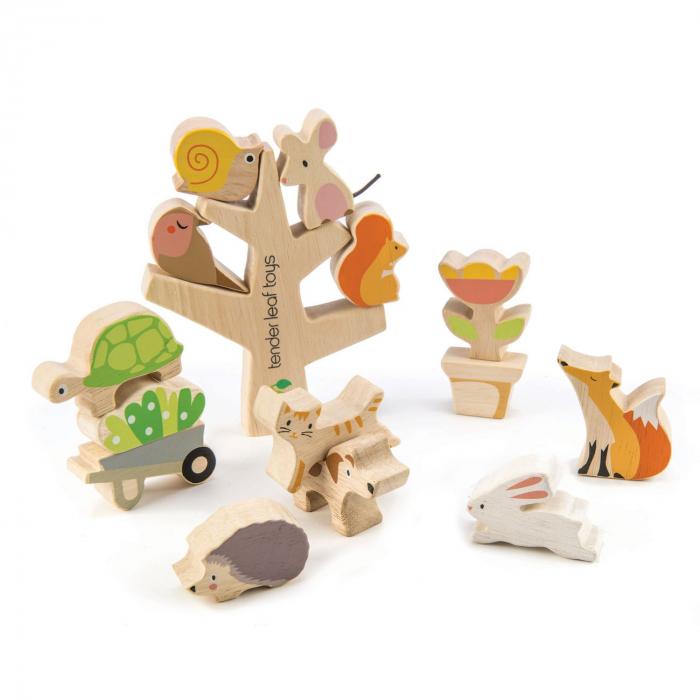 Set cadou jucarii din lemn Povestea din gradina, 16 piese 3