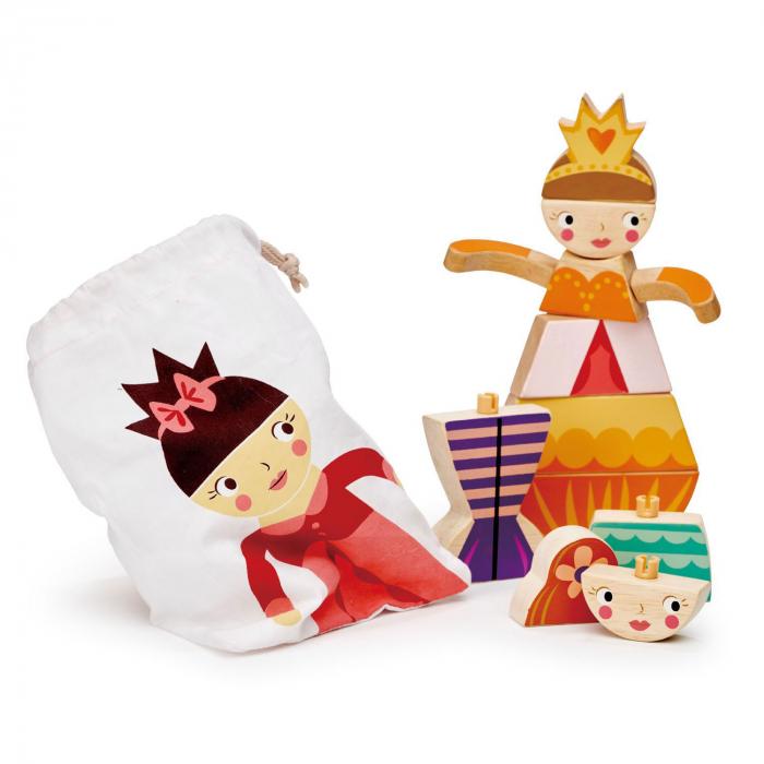 Set cadou jucarii din lemn Printesa si Sirena, puzzle cu 16 piese 5