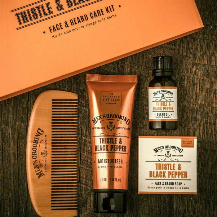 Set cadou kit ingrijire barba, The Scottish Fine Soaps 0