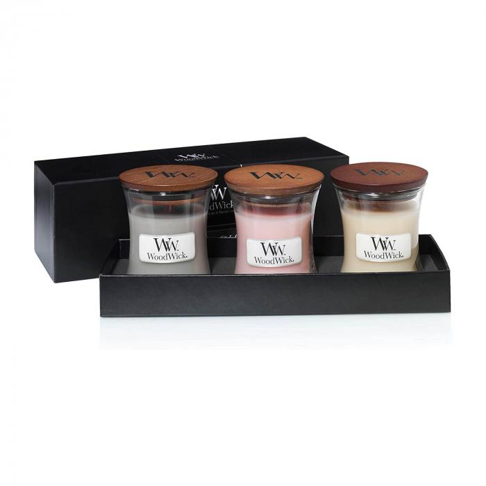 Set cadou lumanari parfumate WOODWICK Fireside 2