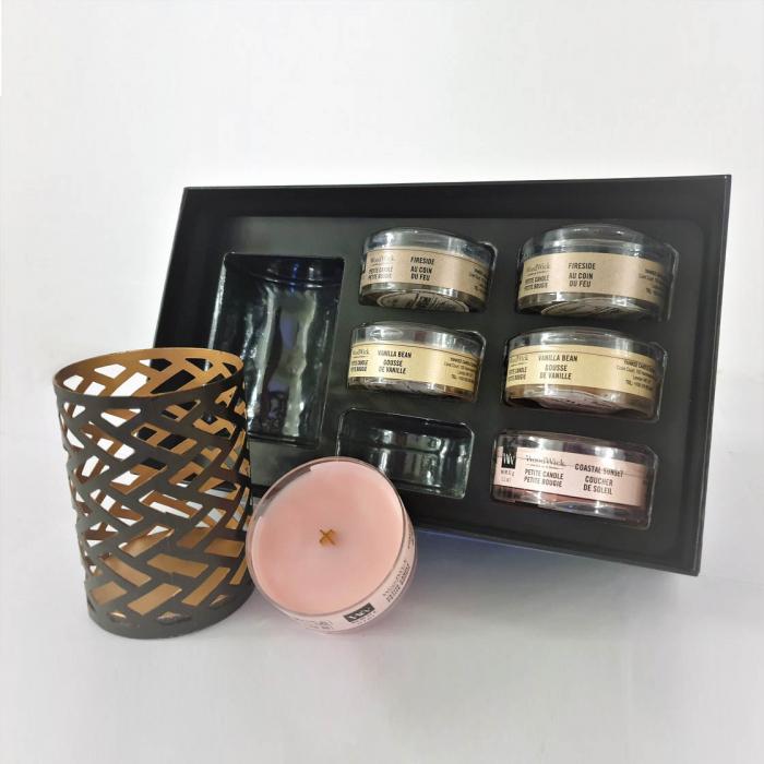 Set cadou lumanari parfumate WOODWICK Fireside Deluxe 0