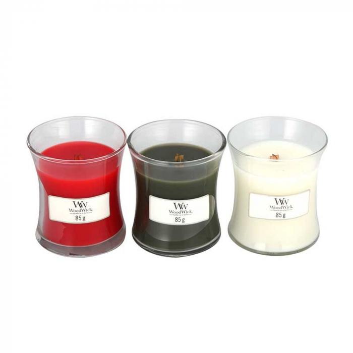 Set cadou lumanari parfumate WOODWICK Woodland 1